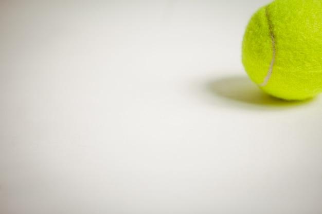 Vista da bola de tênis