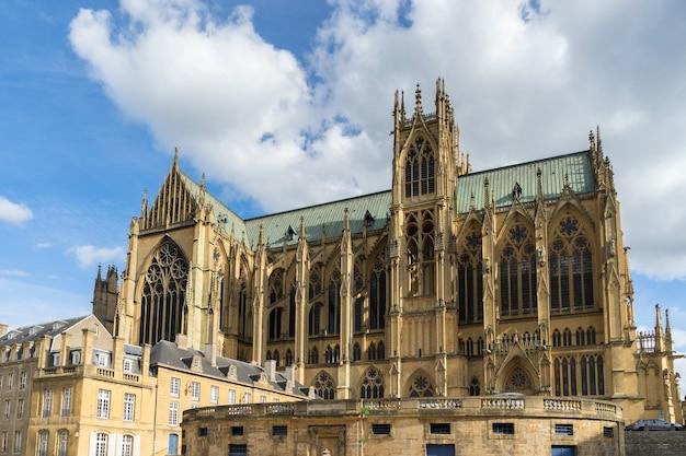 Vista da catedral de saint-etienne metz lorraine moselle frança