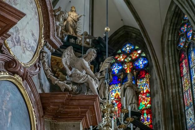 Vista da catedral de santo estevão em viena