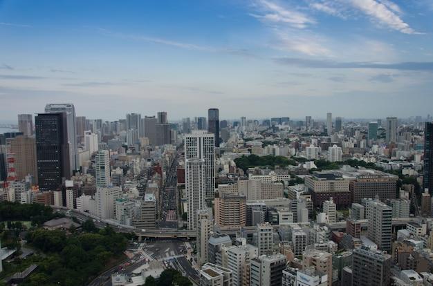 Vista da cidade, construção de tóquio