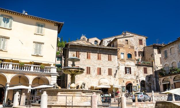 Vista da cidade de assis. patrimônio mundial da unesco na itália
