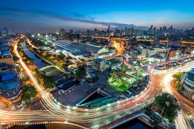 Vista da cidade de bangkok