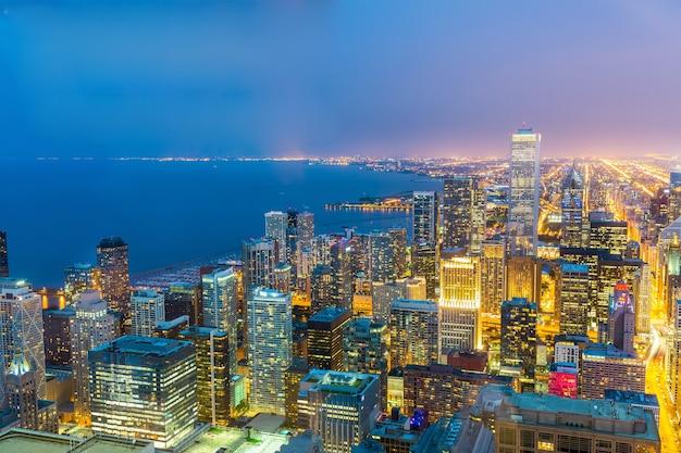 Vista da cidade de chicago na costa