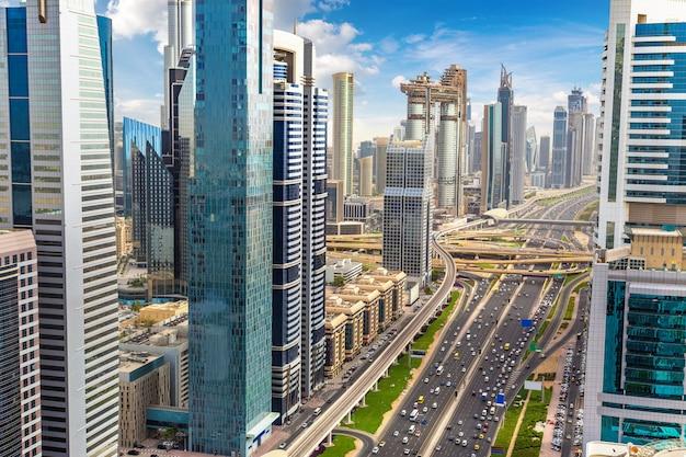 Vista da cidade de dubai, emirados árabes unidos