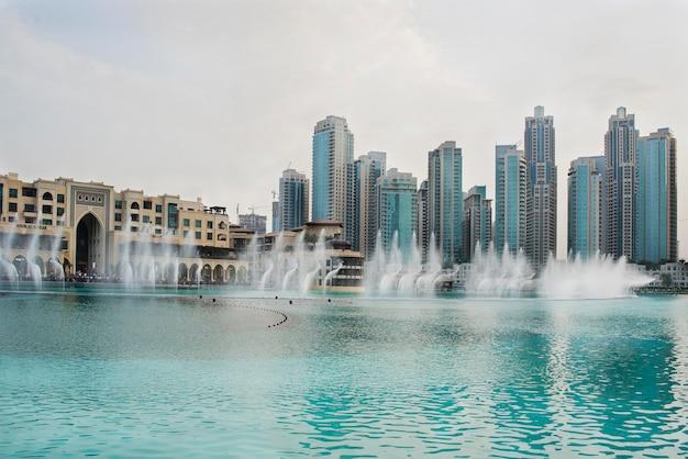 Vista da cidade de dubai nos emirados árabes unidos