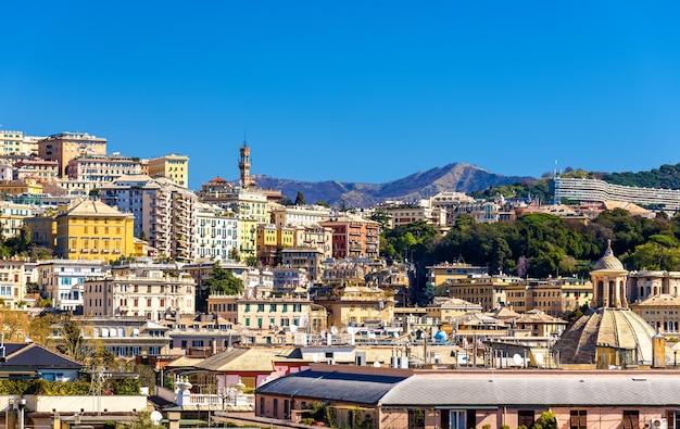 Vista da cidade de gênova - itália, ligúria