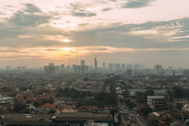 Vista da cidade de jacarta