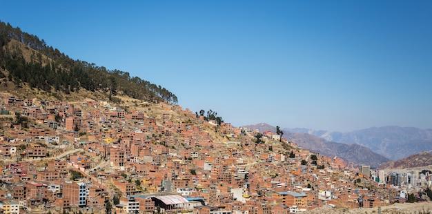 Vista da cidade de la paz de el alto, bolívia