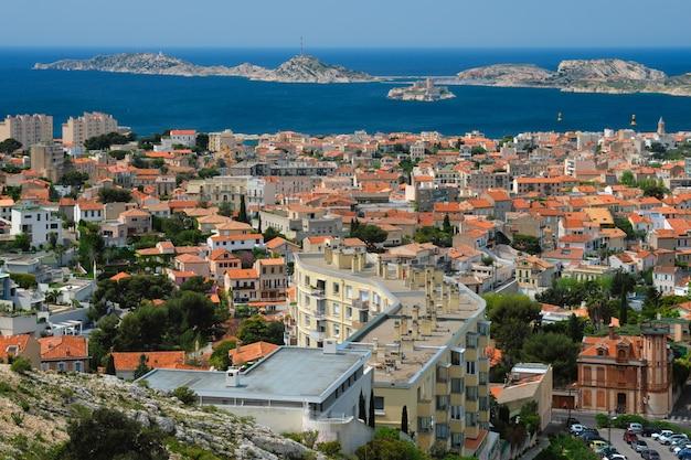 Vista da cidade de marseille marseille, frança