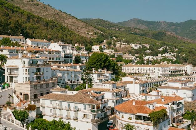Vista da cidade de mijas, na província de málaga