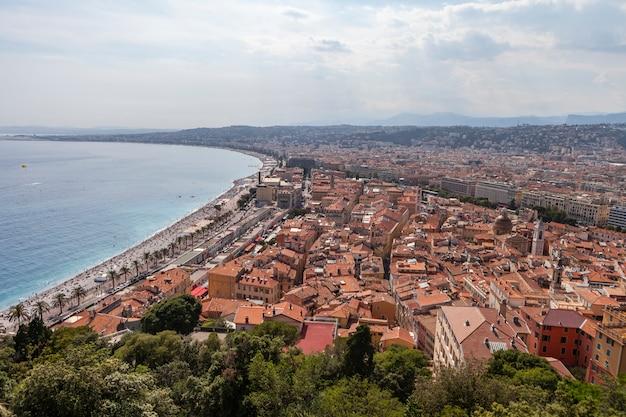 Vista da cidade de mônaco na frança