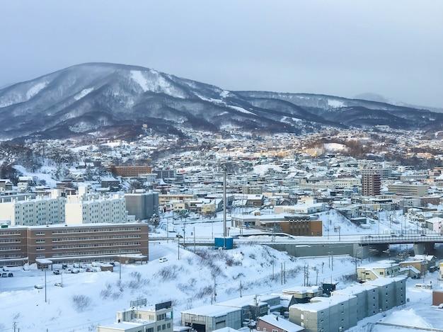 Vista da cidade de otaru