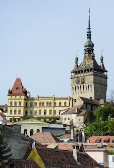 Vista da cidade de sighisoara, romênia