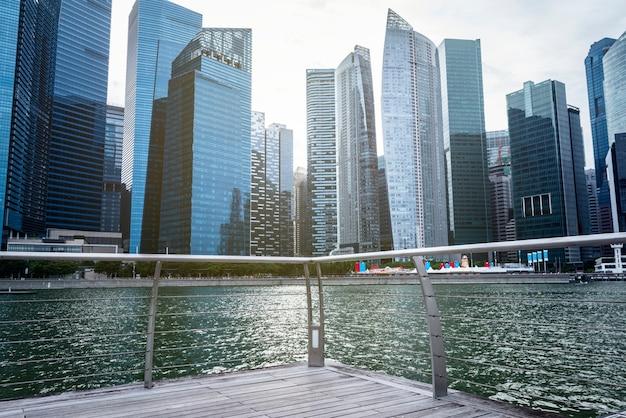 Vista da cidade de singapura