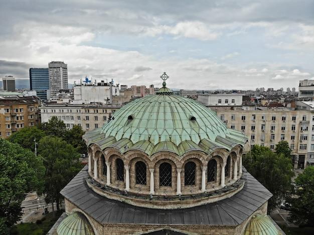 Vista da cidade de sofia, capital da bulgária