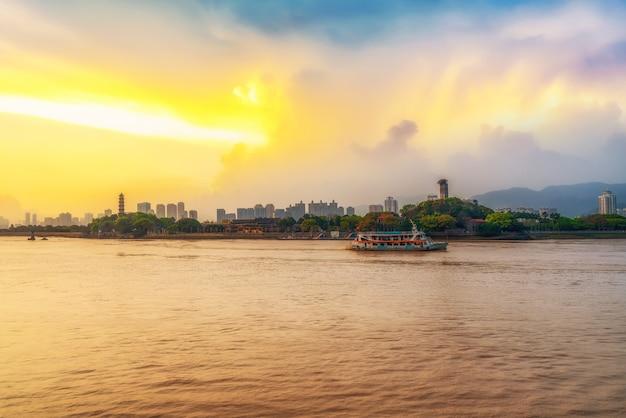 Vista da cidade de wenzhou, zhejiang