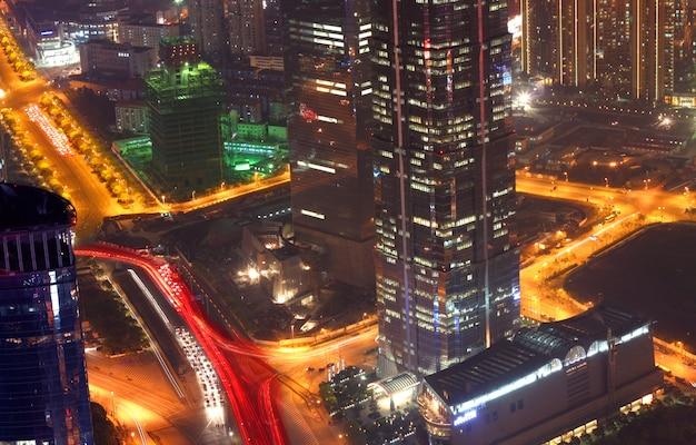 Vista da cidade de xangai