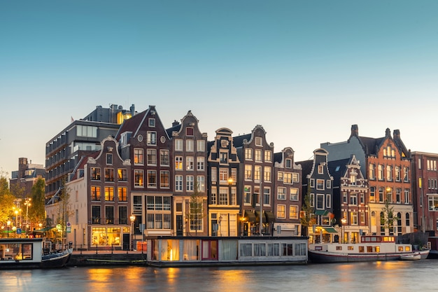 Vista da cidade em amsterdã