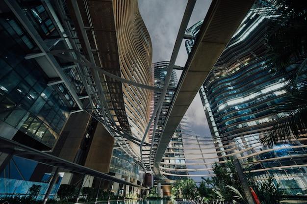 Vista da cidade futurista