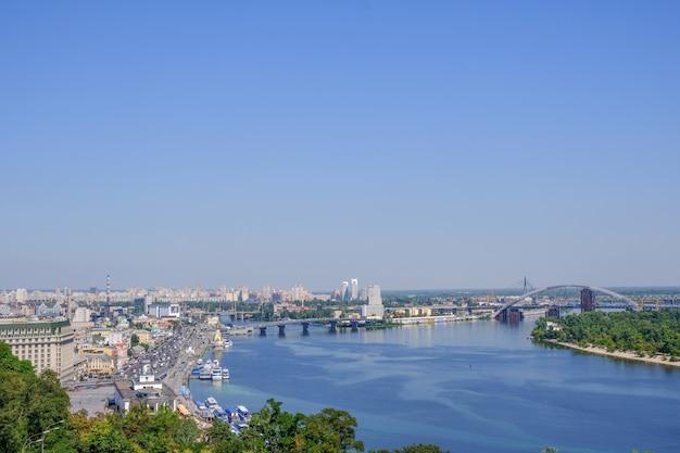 Vista da cidade paisagem de kiev