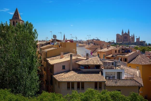 Vista da cidade velha de palma de maiorca