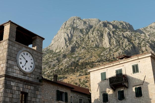 Vista da cidade velha em montenegro