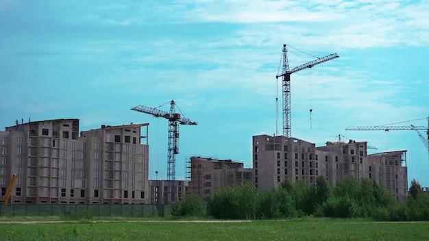 Vista da construção de um novo bairro
