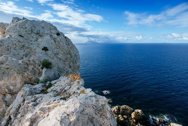 Vista da costa do pacífico