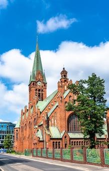 Vista da igreja de santo andré bobola em bydgoszcz, polônia