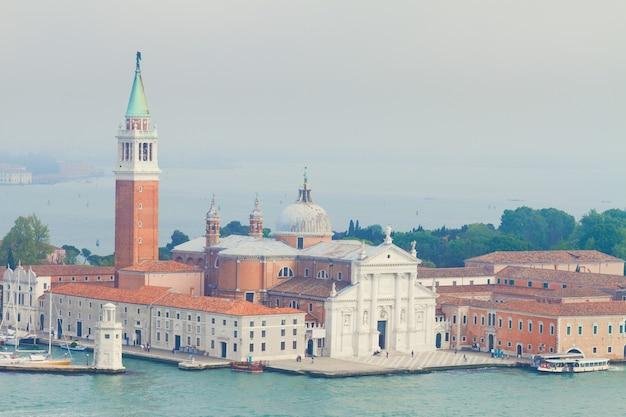 Vista da ilha de san giorgio, veneza, itália