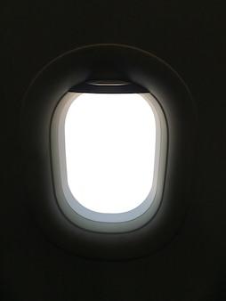 Vista da janela do banco do passageiro no avião comercial - instantâneo de smartphone