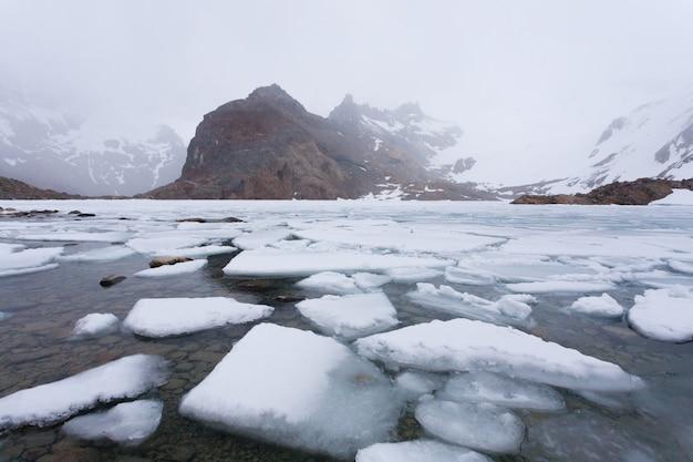 Vista da laguna de los tres, montanha fitz roy, patagônia