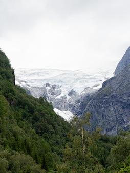 Vista da maior geleira da noruega