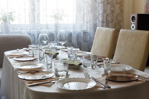 Vista da mesa servida