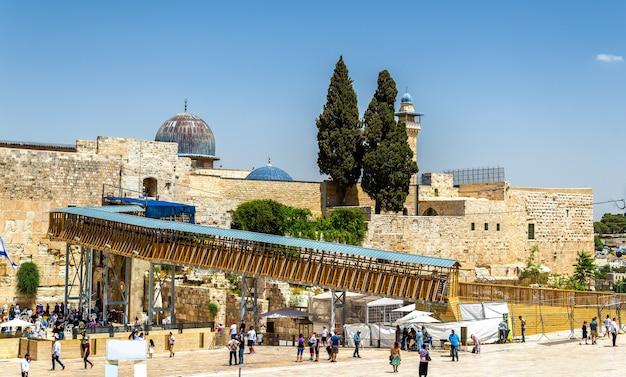 Vista da mesquita al-aqsa em jerusalém, israel