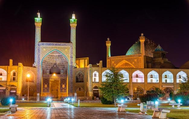 Vista da mesquita shah (imam) em isfahan - irã