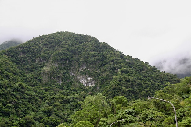Vista da montanha na paisagem do parque nacional do taroko em hualien, formosa.