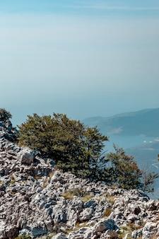 Vista da montanha perto de kotor, montenegro