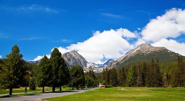 Vista da paisagem das montanhas tatras na eslováquia