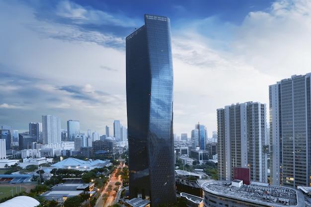 Vista da paisagem urbana no majestoso edifício