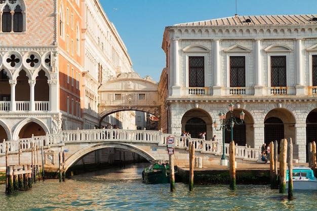 Vista da ponte dos suspiros, veneza, itália
