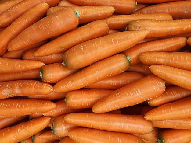 Vista da textura da cenoura