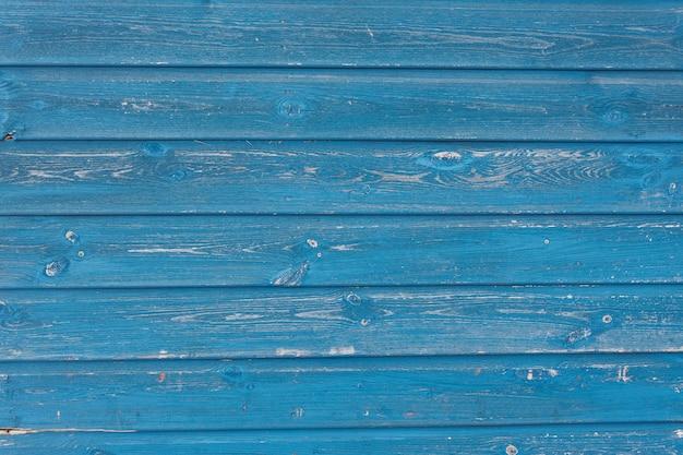 Vista da textura de madeira azul