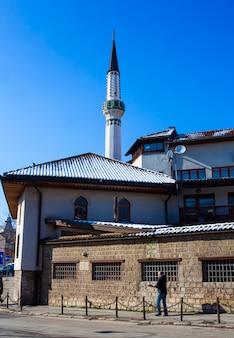 Vista, de, a, cekrekcijina, dzamija, mesquita, sarajevo