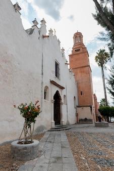 Vista, de, a, exterior igreja, santuário, de, atotonilco, san miguel allende, guanajuato, méxico