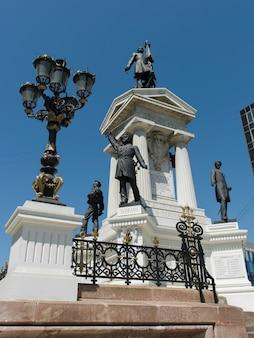 Vista, de, a, monumental, estátua, valparaiso, chile