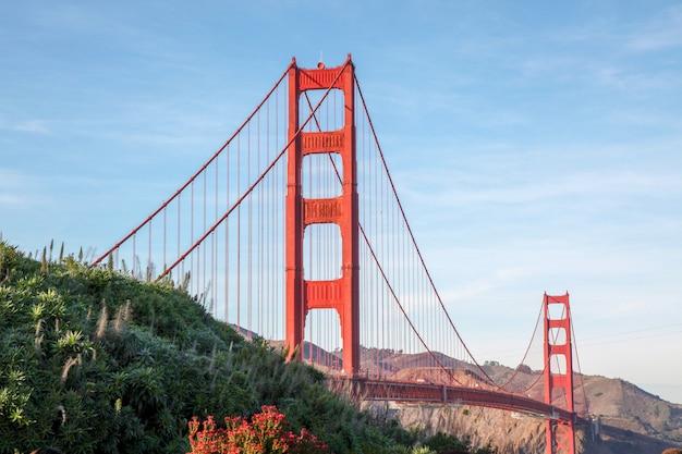 Vista, de, a, ponte dourada portão, são francisco