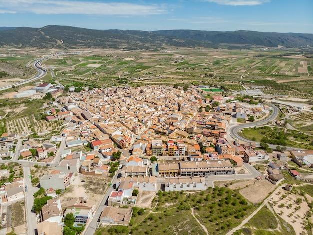 Vista de alto ângulo da cidade de la font de la figuera
