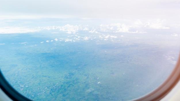 Vista, de, avião, janela