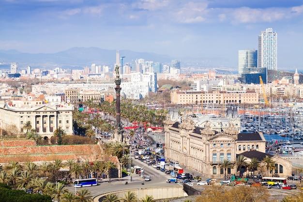 Vista de barcelona a partir do ponto alto